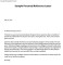 Personal Reference Letter Template PDF