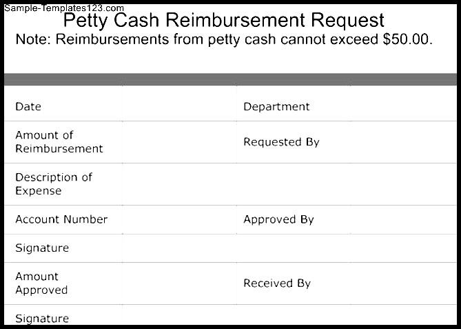 Reimbursement Form Template  KevincoynepageTk
