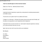Phone Interview Thank You Email Template Example