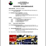 Pitts Burg Event Itinerary
