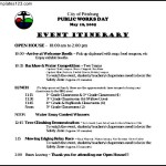 Pitts Burg Sample Event Itinerary Template Free Download