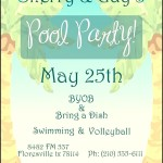Pool Party Invitation Download