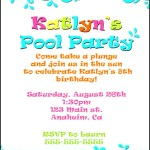 Pool Party Invitation Example