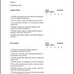 Presentation Skills Evaluation Form