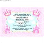 Princess Castle Party Personalized Invitations at Birthday