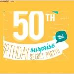 Printable 50th Birthday Invitation Template