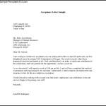 Printable Acceptance Letter Template PDF Format