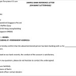 Printable Bank Reference Letter