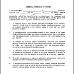 Printable Blank Power of Attorney Form