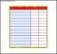 Printable Chore List Template Sample