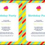 Printable Colored Stripes Birthday Invitation