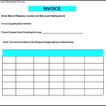 Printable Contractor Invoice Template Free