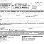 Printable Example Of Generic Medical Records Release Form