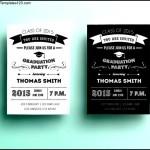 Printable Graduation Invitation Design Template