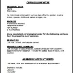 Printable Medical CV Template