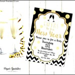 Printable New Years Eve invitation
