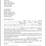 Printable Reference Letter Template MS Word Sample