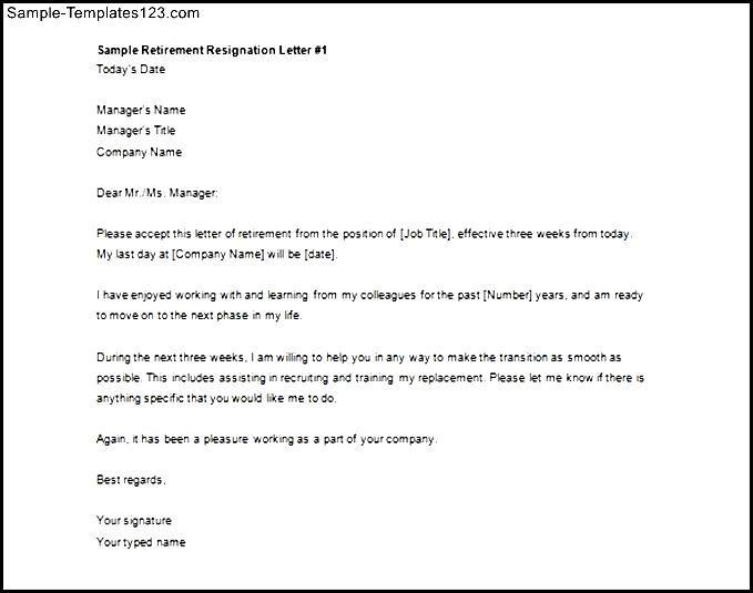 Printable Sample Retirement Resignation Letter Free Download ... on letter of intent for retirement, best resignation letter for retirement, business letter for retirement, resignation letter template for retirement,