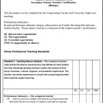 Printable Student Evaluation Form