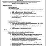Printable Teaching CV Template