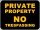 Private Property – No Trespassing Sign Template