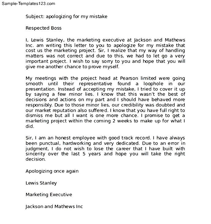 Professional apology letter to boss sample sample templates professional apology letter to boss sample altavistaventures Image collections
