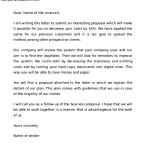 Professional Business Proposal Letter