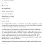 Professional Resignation Letter Format