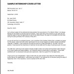 Proffesional Cover Letter for Internship Sample PDF Free Download