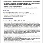 Project Manager CV Template Downloadable