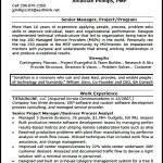 Project Manager Resume Format PDF