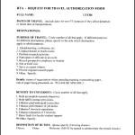 RTA Travel Authorization Form