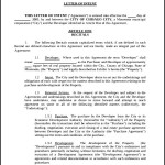 Real Estate Development Letter of Intent Template PDF