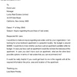 Real Estate Inquiry Letter