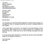 Recommendation Letter for Employment Promotion