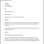 Reference Letter of Employment Template Sample Download