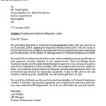 Rejection Letter After Interview