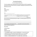 Rental Eviction Letter Template Word Format
