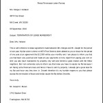 Rental Termination Letter Format Word Doc