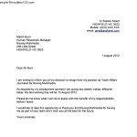 Resignation Letter Template With 2 Week Notice