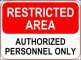 Restricted Area Sign Template