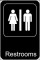 Restrooms Sign Template