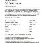Resume Format for BPO Freshers