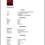 Resume Letter For a Job Sample