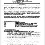 Resume Template for Banking Jobs