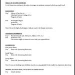 Resume Template for Tutoring Job