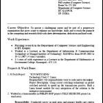 Resume for Freshers Format PDF