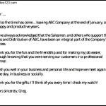 Retirement Letter To a Work Colleague PDF Download