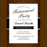 Retirement Party Invitation psd