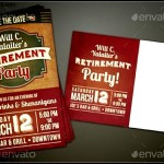 Retirement Party Invitations Sample